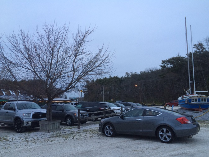 Photo of gray Honda Accord parked in front of Menz restaurant