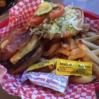 Bacon cheeseburger... yawn.