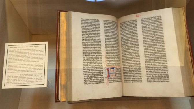Gutenberg Bible at Widener Library