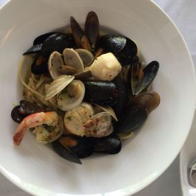 And linguine pescatore for me.