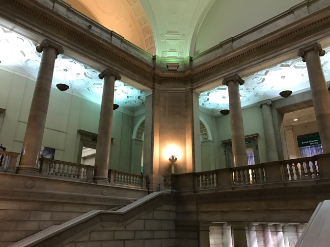 Interior of the Free Library.