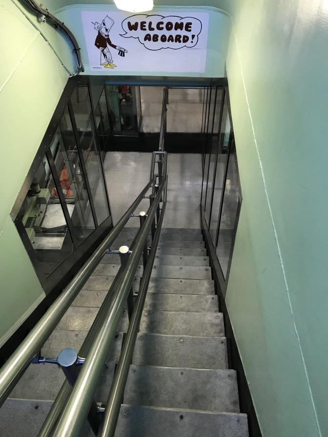 Stairway leading into the Nautilus.