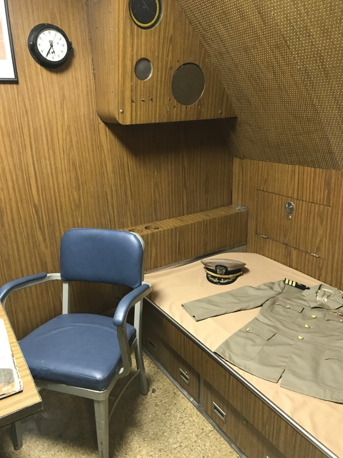 Captain's quarters aboard the Nautilus.