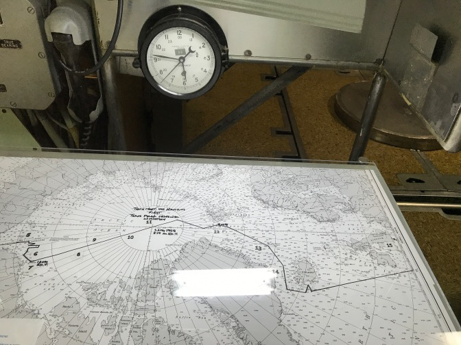 Nautical chart aboard the Nautilus.