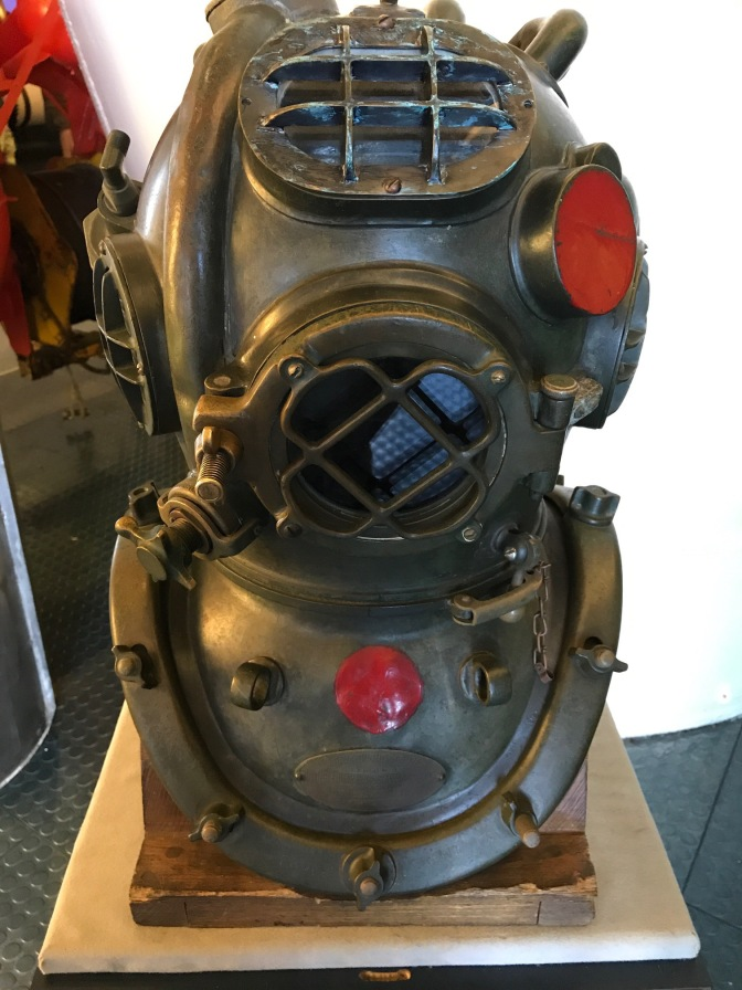 Bronze diving helmet