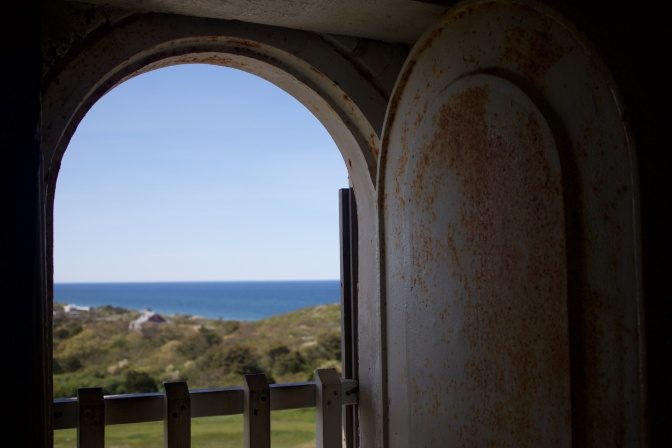 View from the keeper's station in the lighthouse.