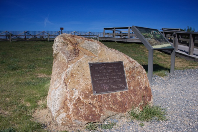 Rock marker of original location of lighthouse.