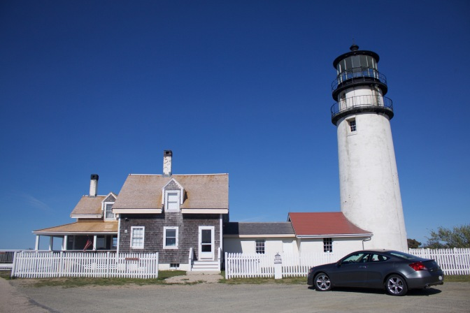 Highland Light, with Honda Accord in foreground.