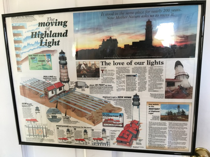 Poster detailing how the lighthouse was moved.