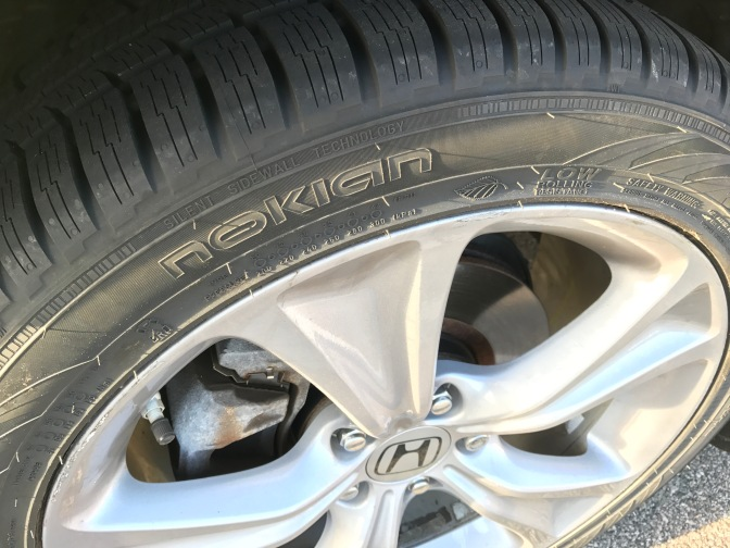 Closeup photo of Nokian WR G3 tires.