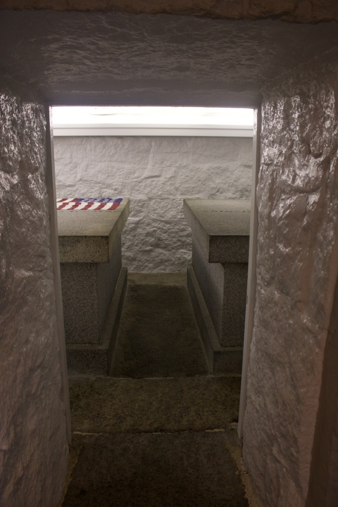 Doorway into the crypt.