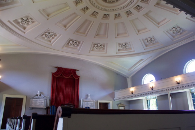 Sanctuary of United First Parish Church.