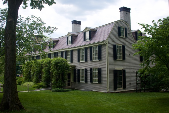 Photograph of Peacefield, the Adams' estate.