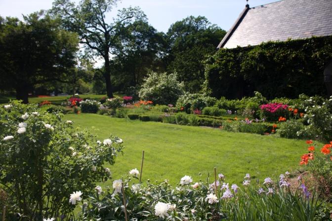 Gardens behind Peacefield.