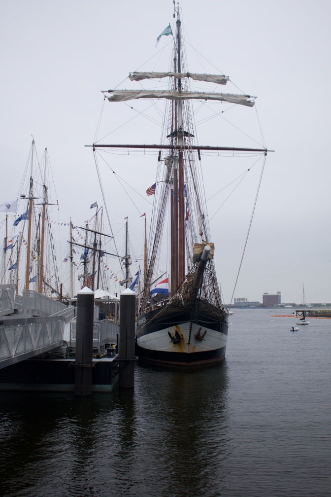 Sailing vessel Oosterschelde at port.