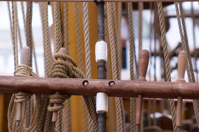 Ship's ropes on the Atyla.