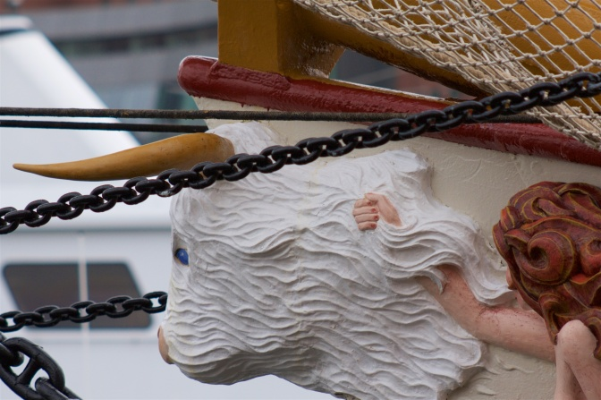 Figurehead of Europa and Bull at front of vessel Europa.
