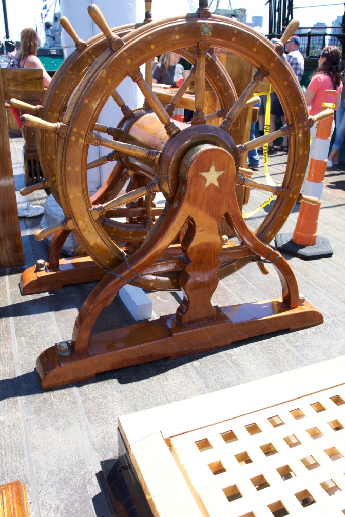 The ship's wheel.