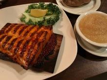 Barbecue salmon.