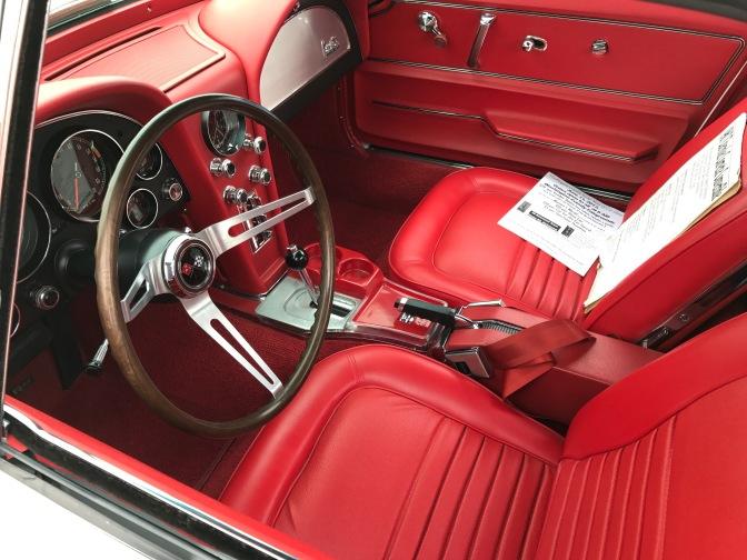 Interior of second generation Chevrolet Corvette.
