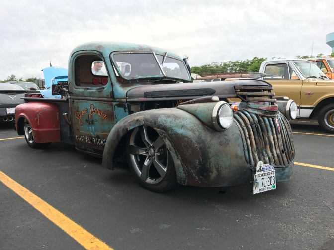 Custom hot rod truck.