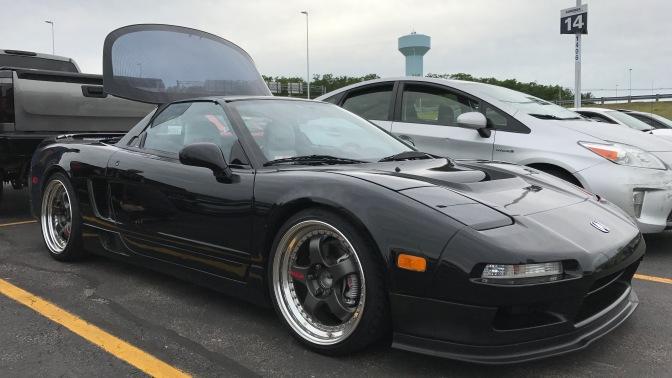 1994 Acura NSX in black.