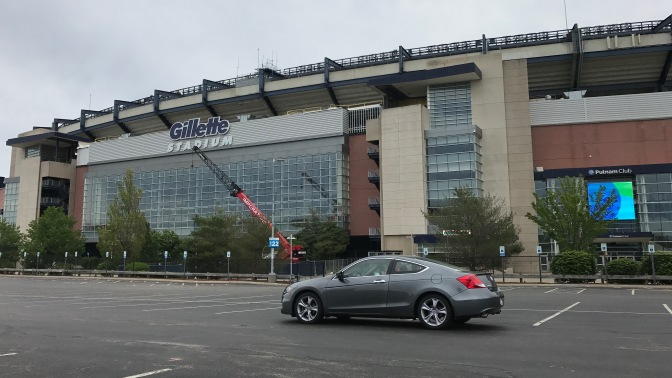2012 Honda Accord in front of Gillette Stadium.