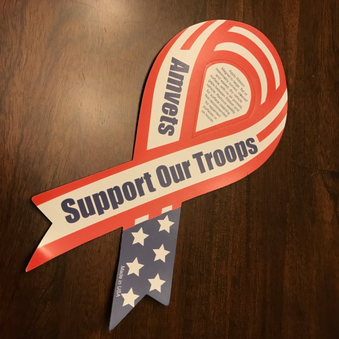 Support our Troops magnet ribbon.