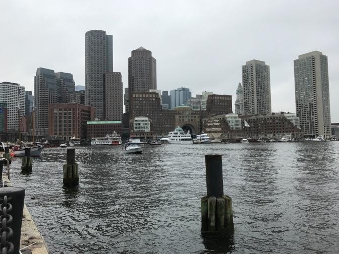 View of Boston Harbor.