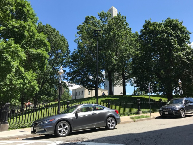 2012 Honda Accord in foreground, Bunker Hill Monument in background.