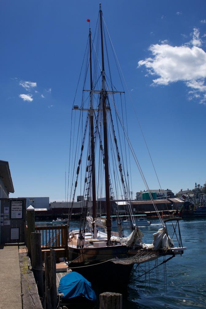 Schooner Thomas E. Lannon at dock.
