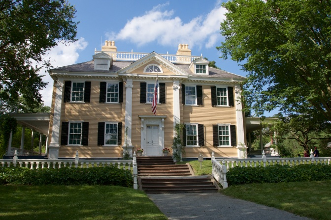 The Longfellow House, view from front lawn.
