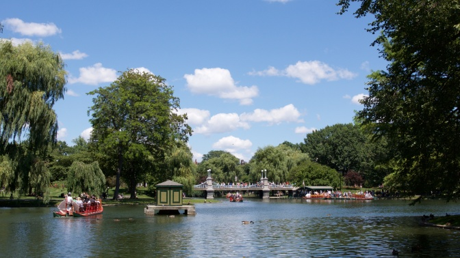 Pond at Boston Public Garden