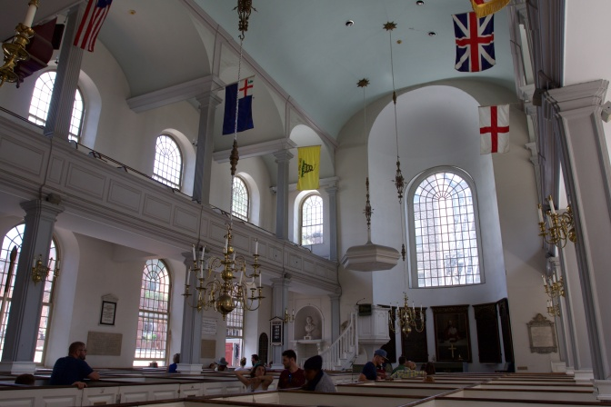 Interior of Old North Church.