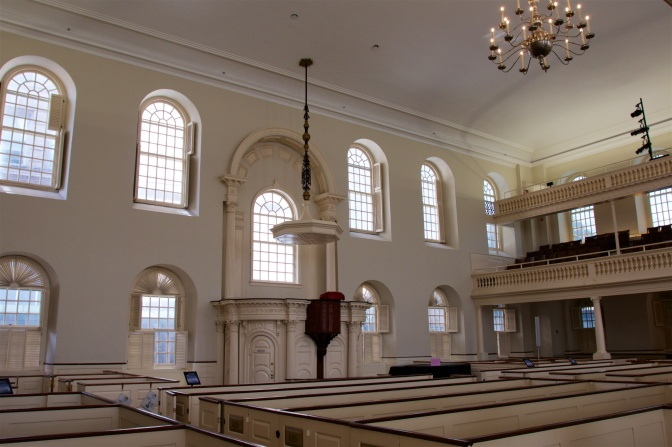 Interior of the Old South Meeting House.