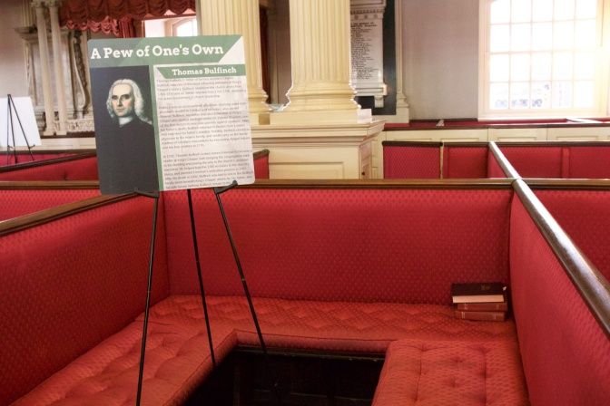 Thomas Bulfinch's pew.