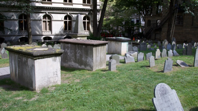 Tombs in King's Chapel Burying Ground.