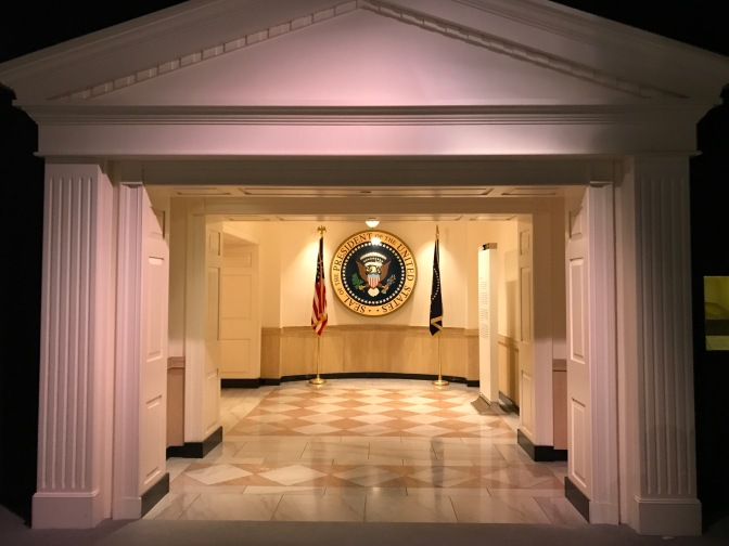 Entrance to the section of the museum addressing the Kennedy presidency.