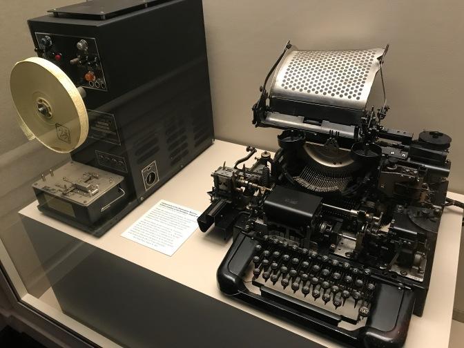 US-Soviet hotline teletype machine.