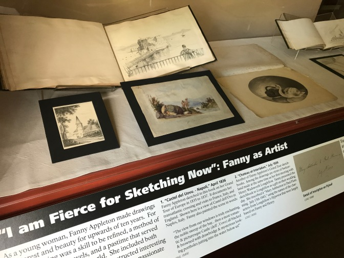 Exhibit of drawing by Frances Appleton, Henry's wife.