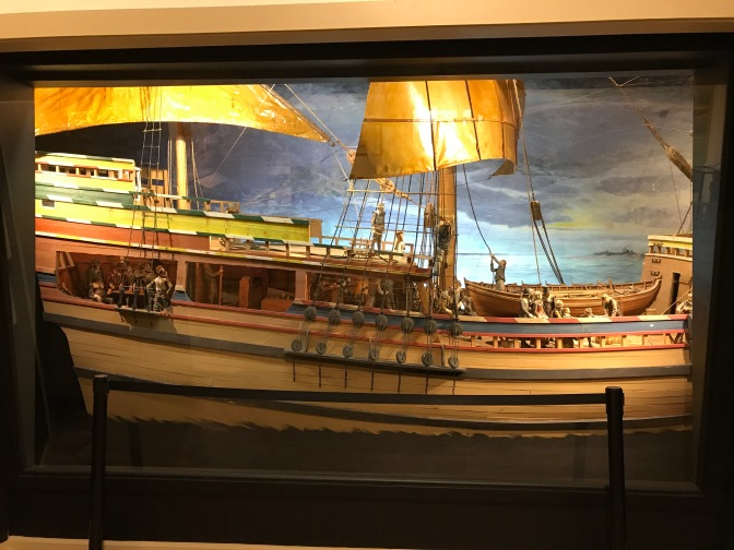 Scale model of the Mayflower.