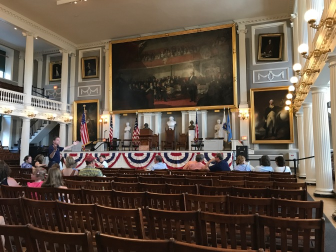 Great Hall in Faneuil Hall.