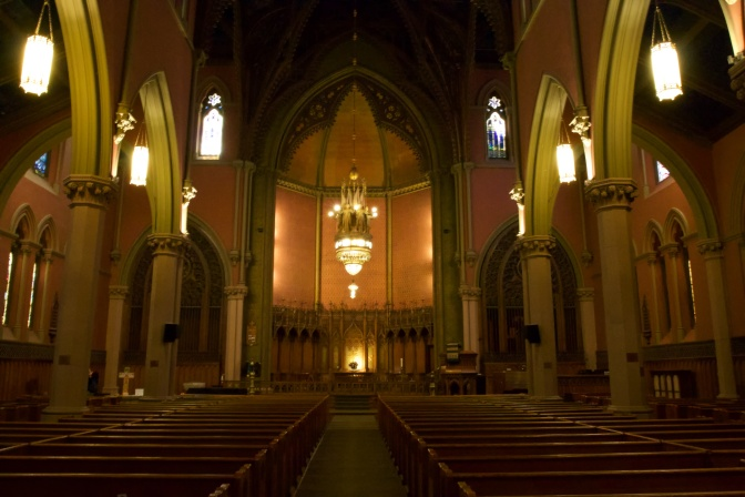 Interior of Church of the Covenant.