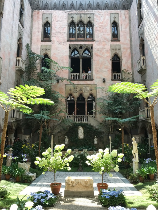 Central Courtyard of the Isabella Stewart Gardner Museum.