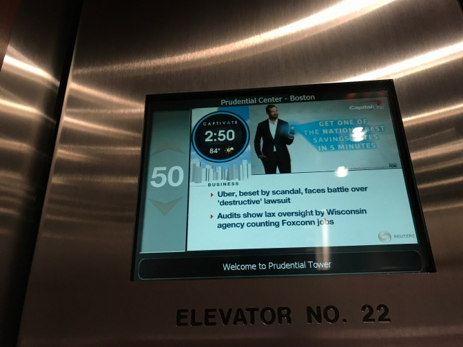Elevator view display panel indicating the 50th floor.