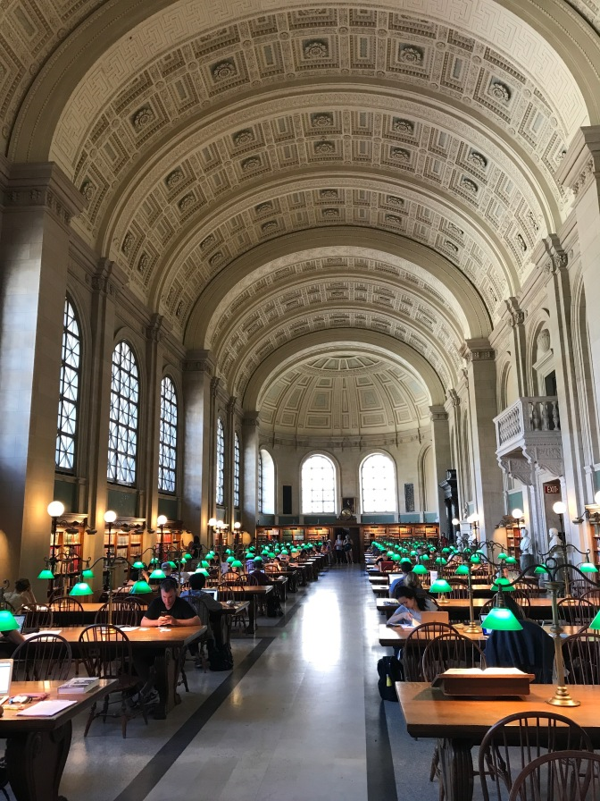 Bates Hall reading room.