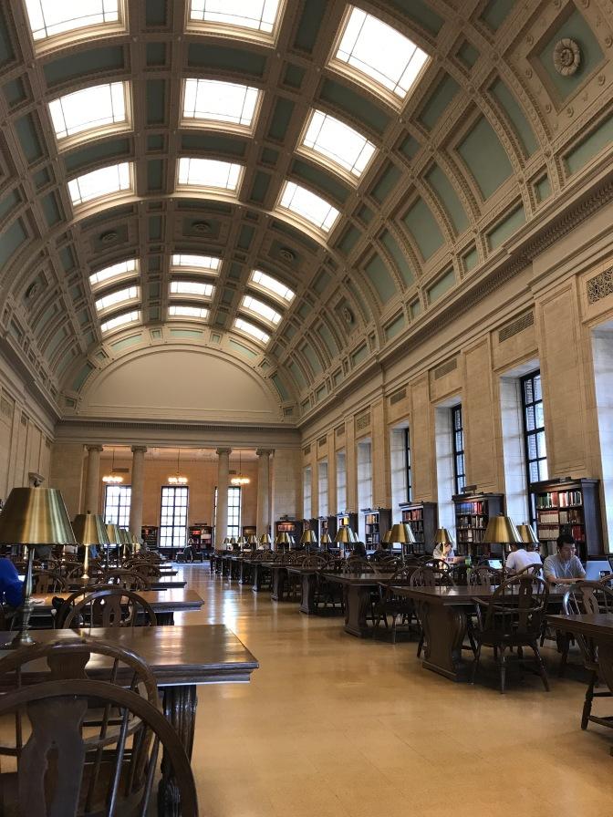 Loker Reading Room in Widener Library.