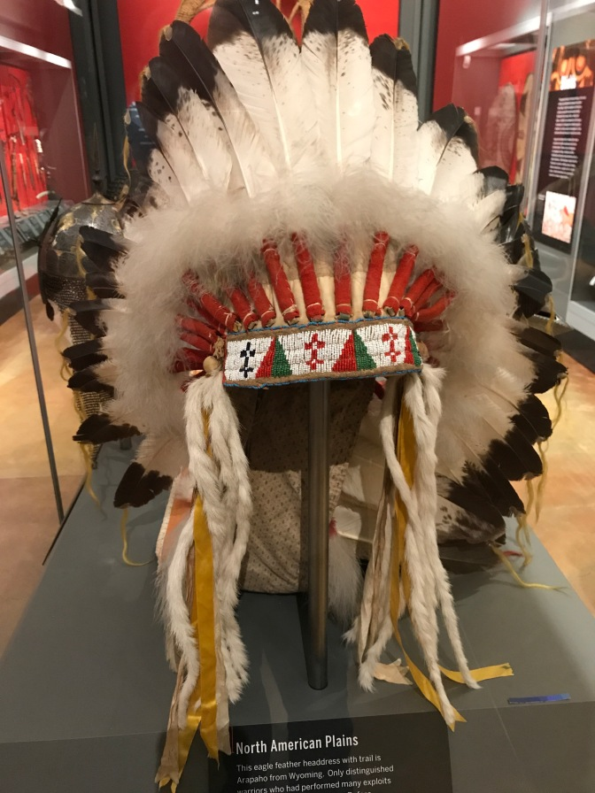 Eagle feather headdress from North American Plains Indians.