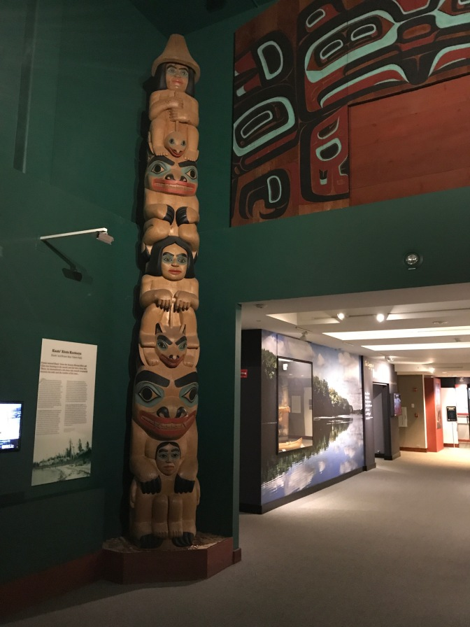 Native American totem pole.