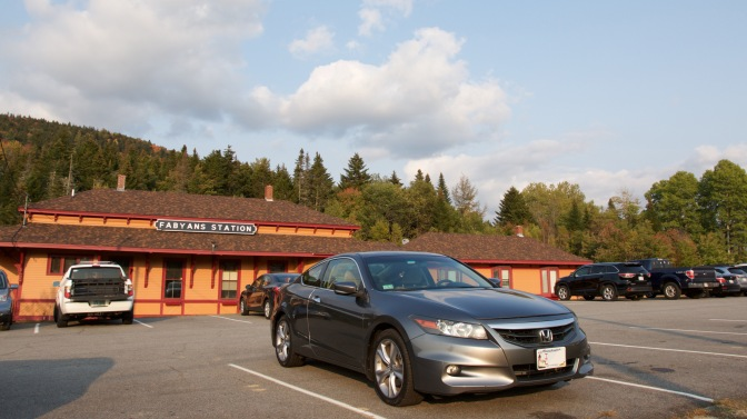 2012 Honda Accord in parking lot in front of Fabyans Station restaurant.